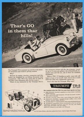 1959 Standard Triumph Motor Co TR-3 TR3 Convertible Roadster Gold Miner Mule Ad
