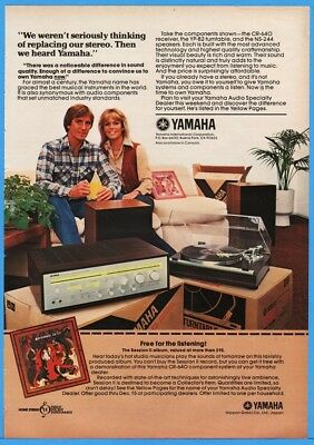 1979 Yamaha CR-640 Receiver YP-B2 Turntable NS-244 Stereo Speakers Photo Ad