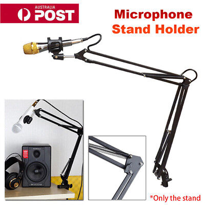 Flexible Studio Desk Mount Clip Mic Microphone Suspension Boom Scissor Arm Stand
