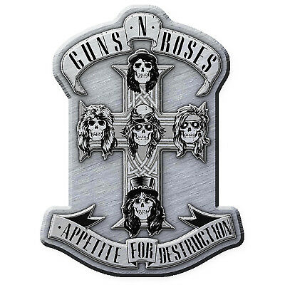 Guns N Roses Appetite Cross Metal Pin Button Badge Official Band Merch New