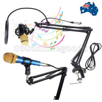 Flexible Studio Microphone Suspension Boom Scissor Arm Stand for Radio Broadcast