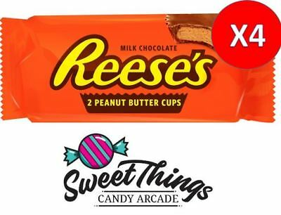 4x Reese's 2 Peanut Butter Cups 42g Milk Chocolate USA Extra items get free post
