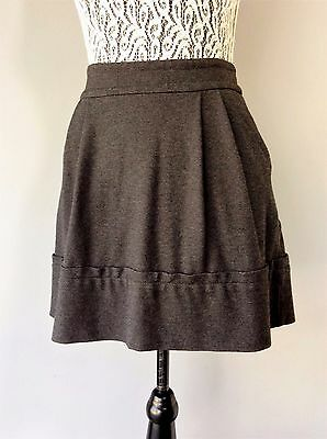 Marc by Marc Jacobs Gray Pleated Side Pockets Designer Skirt Sz XS