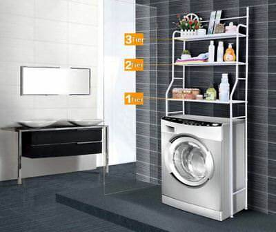 Over Washing Machine Toilet Rack Shelf Storage Unit 3Tier Laundry Organizer Unit