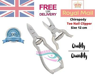 Professional ToeNail Clippers Cutters Heavy Duty Pliers Chiropody Podiatry S/S