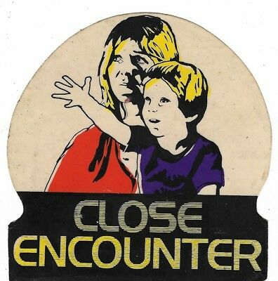 Vintage Close Encounter Sticker 9cm x 9.5cm - Close Encounters of the Third Kind