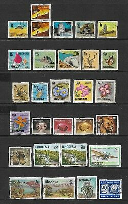 RHODESIA mixed collection No.7, decimal, incl postage due, mostly used
