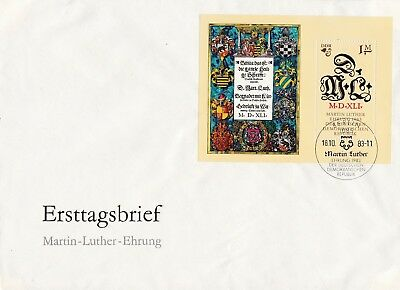 B17735 DDR Block 73 FDC Martin Luther  Michel 15 €