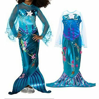 Princess Ariel the Little Mermaid Halloween Party Fancy Dress Up Costume Cosplay
