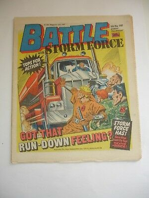 BATTLE With STORM FORCE comic 16th May 1987