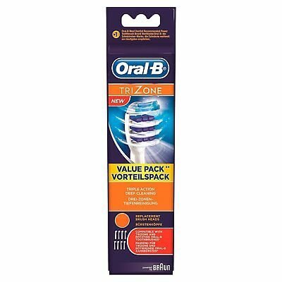 Braun Oral-B Trizone Electric Toothbrush Replacement Brush Heads Pack of 4 Heads