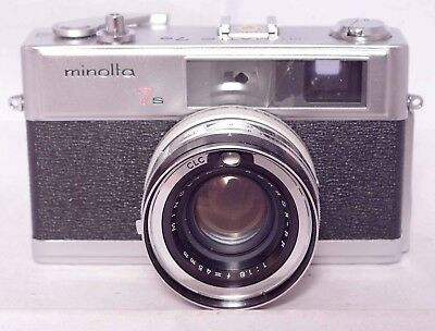 Minolta Hi-Matic 7s  35mm rangefinder camera with 45mm f.1.8 Rokkor PF lens