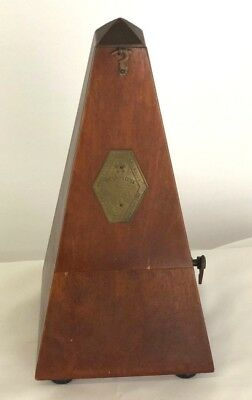 Vintage Wooden French Maezel Metronome In Working Order