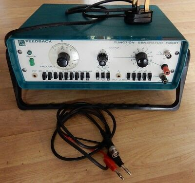 FEEDBACK FG601 1MHz GENERAL PURPOSE FUNCTION GENERATOR. TESTED, WORKING.