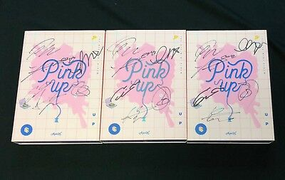"APINK autographed ""PINK UP"" 6th Mini Album signed PROMO CD"
