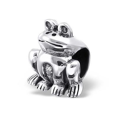 925 Sterling Silver JUMPING//LEAPING FROG Dangle Threaded European Charm Bead