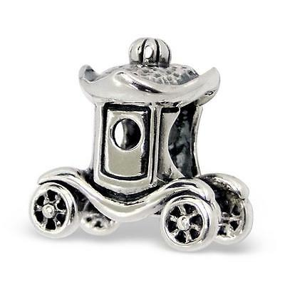 925 Sterling Silver Vintage Chariot Carriage Bracelet Charm Bead Gift Boxed B455