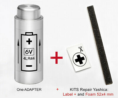 Yashica Electro 35 G, Gs, Gsn, Gtn, Mg-1, Ax.-  Adapter Battery + Adhesive