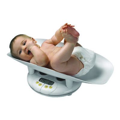 """Lightweight Electronic Bath Scale 1.2"""" Lcd Readout for Infant Toddler White"""
