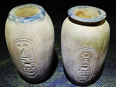 EGYPTIAN ANTIQUES ANTIQUITIES Pot Jar Vase Vessel With Hieroglyphs 1391-1307 BC