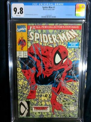 SPIDER-MAN #1 MCFARLANE CGC 9.8 (Green Edition) MINT VERY COLLECTIBLE!