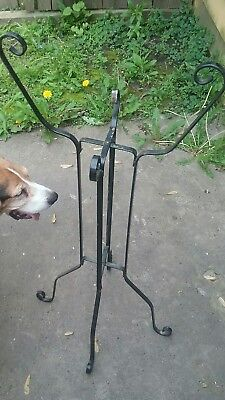 Antique Wrought Iron Fishbowl Plant Stand Vintage
