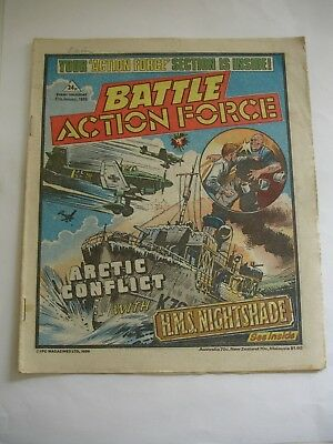 BATTLE ACTION FORCE comic 11th January  1986