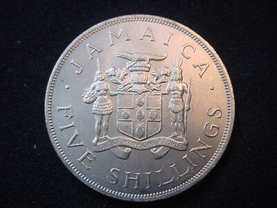 Jamaica 1966 Five Shilling Coin, Uncirculated Condition, HK40