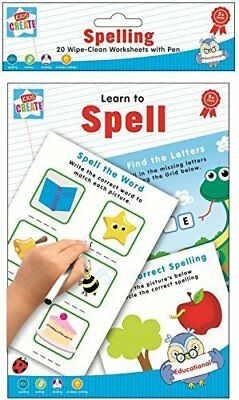 Children's Learn To Spell  Write Wipe Clean A5 Alphabet Book Learning Kids