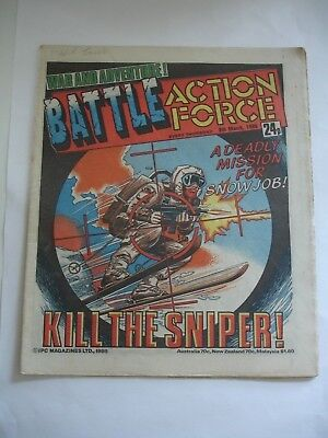 BATTLE ACTION FORCE comic 8th March  1986