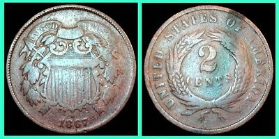 1867 Two Cent Piece: $0.99 and Go!