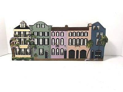 Sheila's Collectible RAINBOW ROW 1 Piece, 5 Houses Charleston, SC 1985 Signed