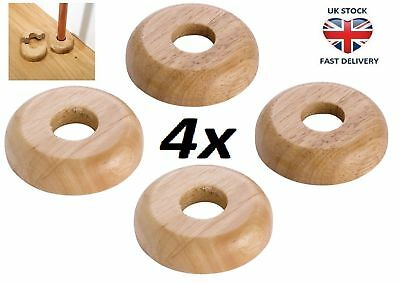 4 X REAL OAK Wood 45/15mm Radiator Pipe Collars Wooden Floor Cover Rose Rings