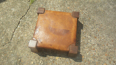 Antique Gustav Stickley Monk Footstool original Arts and Crafts collectible rare