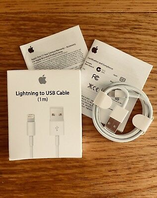 GENUINE 1M Apple Lightning Charger Lead USB Cable for iPhone X Xs 8 7 7 plus 6 5