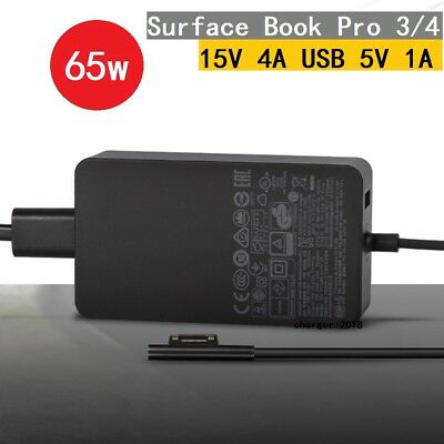 65W 15V 4A AC Power Adapter Charger for Microsoft Surface Book Pro 3 Pro 4 1706