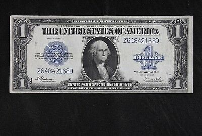 $1 1923 Horse Blanket Large silver certificate Z64842168D one dollar, FREE SHIP.