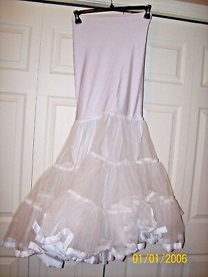 White Wedding Gown Slip - Size Large - Rn# 69120 - Clean!