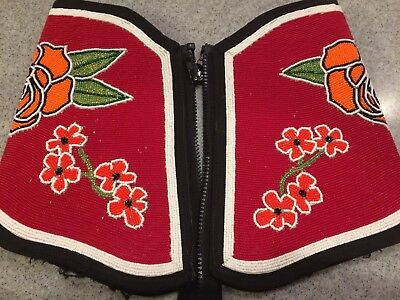 Native American Indian Beaded Arm Gauntlets