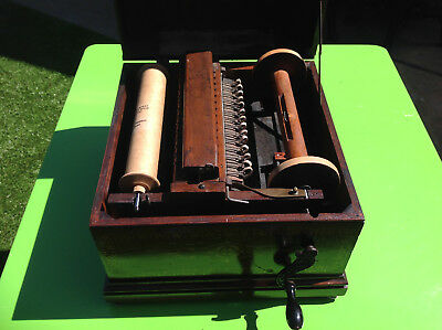 Antique Wind-Up Gately Organette Fully Working with Rolls Excellent Condition