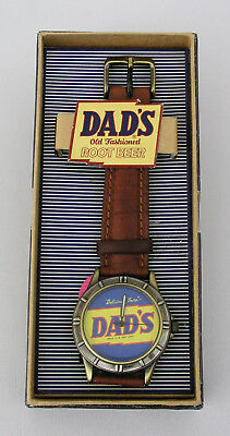 Men's Dad's Old Fashioned Root Beer Wrist Watch With Leather Band