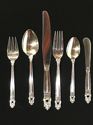 Royal Danish – International Sterling – 6 Piece Sterling Flatware Place Setting