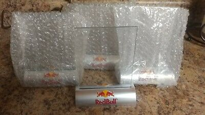 "4NOS Red Bull Drink Restaurant Cafe Table Tent Menu Ad Holder 4"" x 6"" Brand New"
