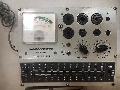 Lafayette 99-5011 Tube Tester And Instructions - Excellent Condition