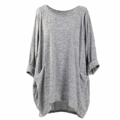 Women Round Neck Long Sleeve Dark Red Green Color Casual Wear Long Blouse