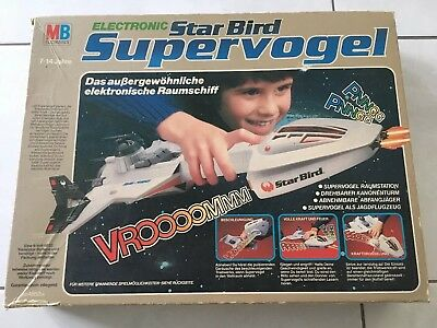 MB Electronics Star Bird Supervogel Raumschiff top und komplett in OVP von 1978