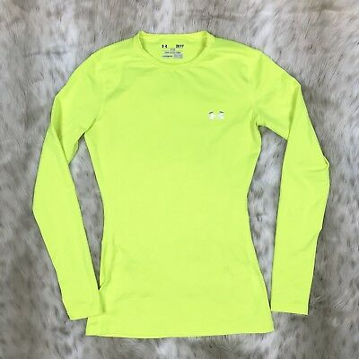 Under Armour Womens Cold Gear Long Sleeve Compression Shirt Sz SM Fitted