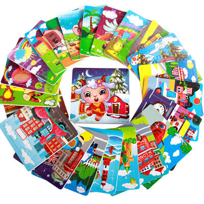 Wooden Puzzle Toys For Children Educational Developmental Kid Jigsaw Puzzle RAHN