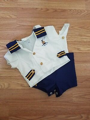 Baby Boy's Vintage Size 3-6 Months Sailor Suit- Good Condition