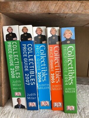 Judith Miller Book Lot of 5 Collectibles Price Guide 2004/2005/2006/2007/2008